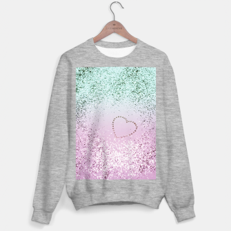 Thumbnail image of Mermaid Lady Glitter Heart #4 #decor #art Sweatshirt regulär, Live Heroes