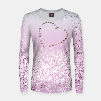 Thumbnail image of Mermaid Lady Glitter Heart #4 #decor #art Frauen baumwoll sweatshirt, Live Heroes