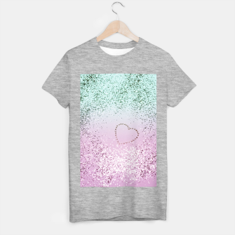 Thumbnail image of Mermaid Lady Glitter Heart #4 #decor #art T-Shirt regulär, Live Heroes