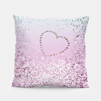 Thumbnail image of Mermaid Lady Glitter Heart #4 #decor #art Kissen, Live Heroes