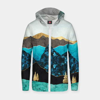 Miniatur Teal Afternoon Cotton zip up hoodie, Live Heroes