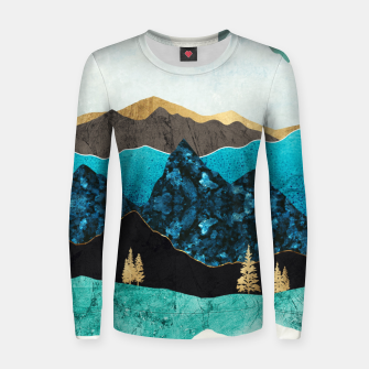 Miniatur Teal Afternoon Woman cotton sweater, Live Heroes