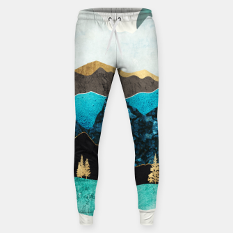 Miniatur Teal Afternoon Cotton sweatpants, Live Heroes
