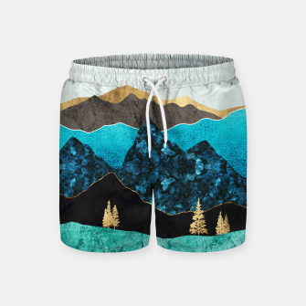 Miniatur Teal Afternoon Swim Shorts, Live Heroes