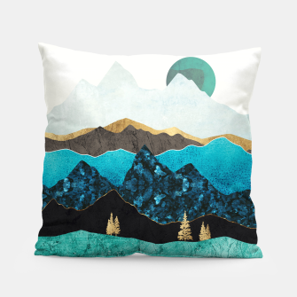 Miniatur Teal Afternoon Pillow, Live Heroes