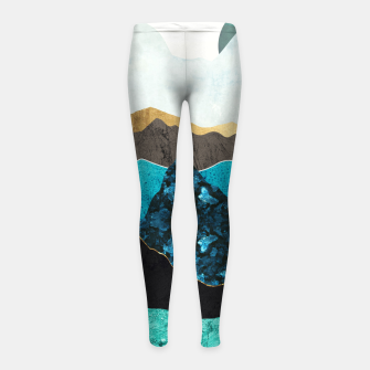Miniatur Teal Afternoon Girl's leggings, Live Heroes
