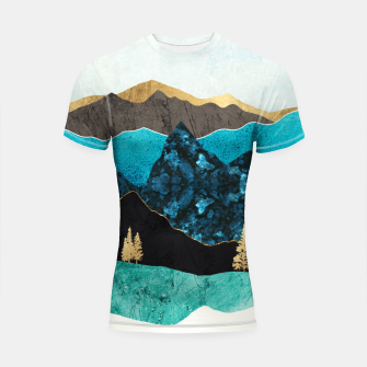Thumbnail image of Teal Afternoon Shortsleeve rashguard, Live Heroes