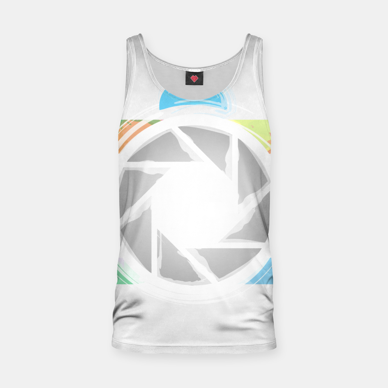 Image of Watercolor Photography camera- Rainbow colored photography lover icon Tank Top - Live Heroes