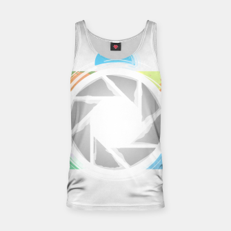 Miniaturka Watercolor Photography camera- Rainbow colored photography lover icon Tank Top, Live Heroes