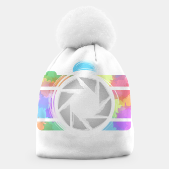 Miniaturka Watercolor Photography camera- Rainbow colored photography lover icon Beanie, Live Heroes