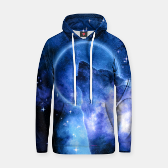 Thumbnail image of Cosmic Howling Wolf Moon Kapuzenpullover, Live Heroes