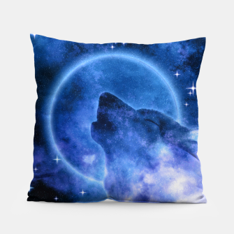 Thumbnail image of Cosmic Howling Wolf Moon Kissen, Live Heroes