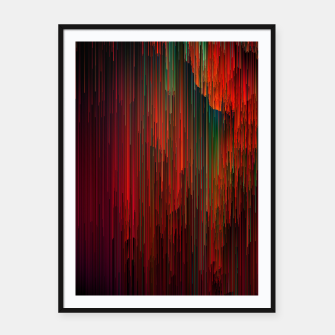 Miniatur Volcanic Glitches - Abstract Pixel Art Framed poster, Live Heroes