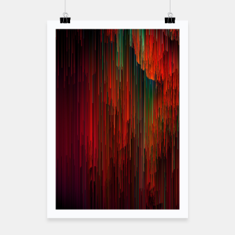 Miniatur Volcanic Glitches - Abstract Pixel Art Poster, Live Heroes