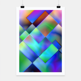 Miniatur Geometric Psychedelia - Poster, Live Heroes