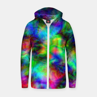 Miniatur Abstract Psychedelia - Cotton zip up hoodie, Live Heroes