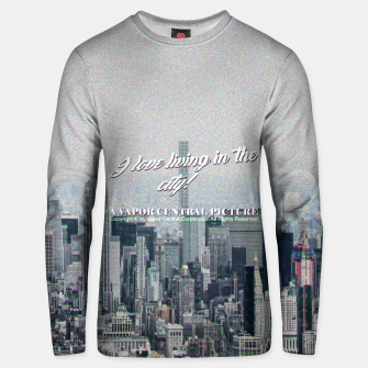 Thumbnail image of i love living in the city cassette Cotton sweater, Live Heroes