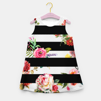 Thumbnail image of 3d flowers Girl's summer dress, Live Heroes