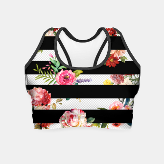 Thumbnail image of 3d flowers Crop Top, Live Heroes