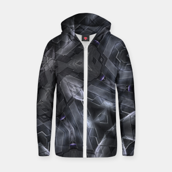Thumbnail image of Trilicorian Cotton zip up hoodie, Live Heroes