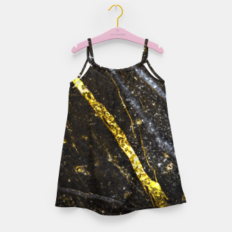 Thumbnail image of Gold sparkly line on black rock Girl's dress, Live Heroes