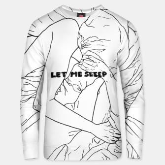 Thumbnail image of Let me sleep b/w Cotton sweater, Live Heroes