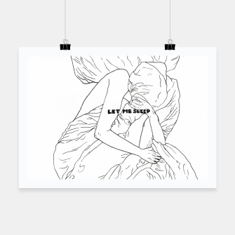 Thumbnail image of Let me sleep b/w Poster, Live Heroes