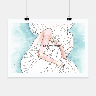 Thumbnail image of Let me sleep colored Poster, Live Heroes