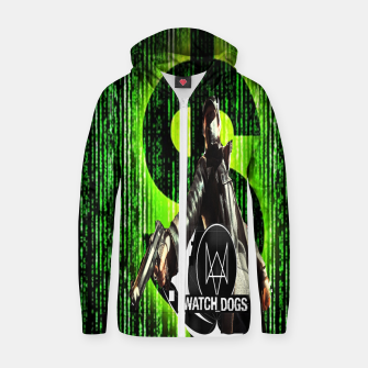 Thumbnail image of WATCH DOGS VS MATRIX 3D Cotton zip up hoodie, Live Heroes