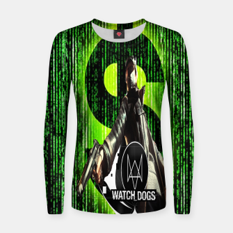 Thumbnail image of WATCH DOGS VS MATRIX 3D Woman cotton sweater, Live Heroes