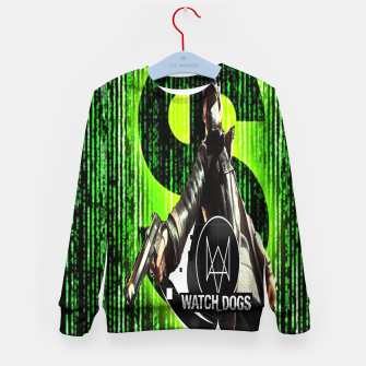 Thumbnail image of WATCH DOGS VS MATRIX 3D Kid's sweater, Live Heroes