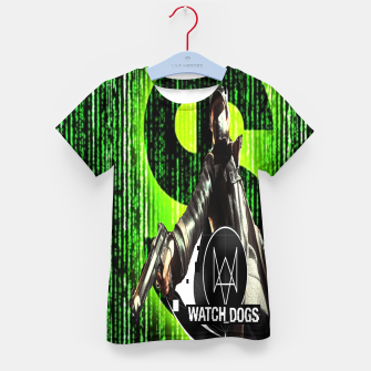 Thumbnail image of WATCH DOGS VS MATRIX 3D Kid's t-shirt, Live Heroes