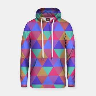 Thumbnail image of Multicoloured Geometric Triangles Digital Repeat Pattern Cotton hoodie, Live Heroes