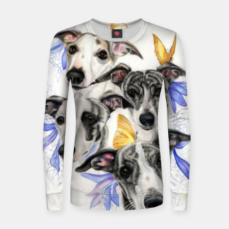 Miniatur Whippets Woman cotton sweater, Live Heroes
