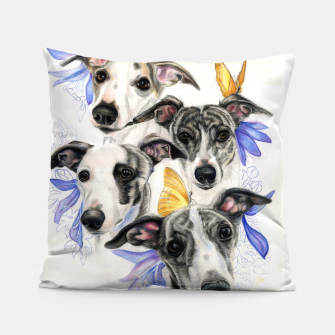 Miniatur Whippets Pillow, Live Heroes