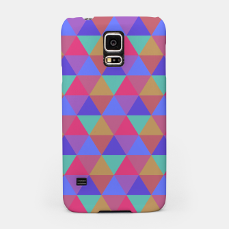 Thumbnail image of Multicoloured Geometric Triangles Digital Repeat Pattern Samsung Case, Live Heroes
