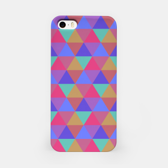 Thumbnail image of Multicoloured Geometric Triangles Digital Repeat Pattern iPhone Case, Live Heroes