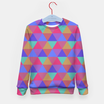 Thumbnail image of Multicoloured Geometric Triangles Digital Repeat Pattern Kid's sweater, Live Heroes