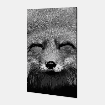 Thumbnail image of gxp happy fox smiling v2 vector art black white Canvas, Live Heroes