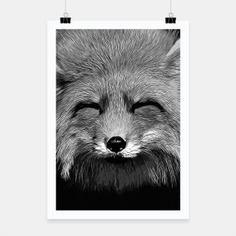 Thumbnail image of gxp happy fox smiling v2 vector art black white Poster, Live Heroes