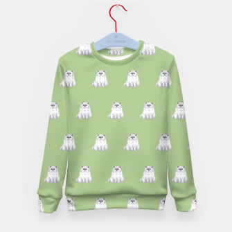 Thumbnail image of Persian cats pattern Kid's sweater, Live Heroes