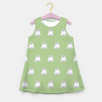Thumbnail image of Persian cats pattern Girl's summer dress, Live Heroes