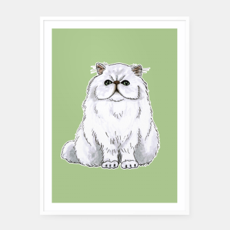 Thumbnail image of Persian cat Framed poster, Live Heroes