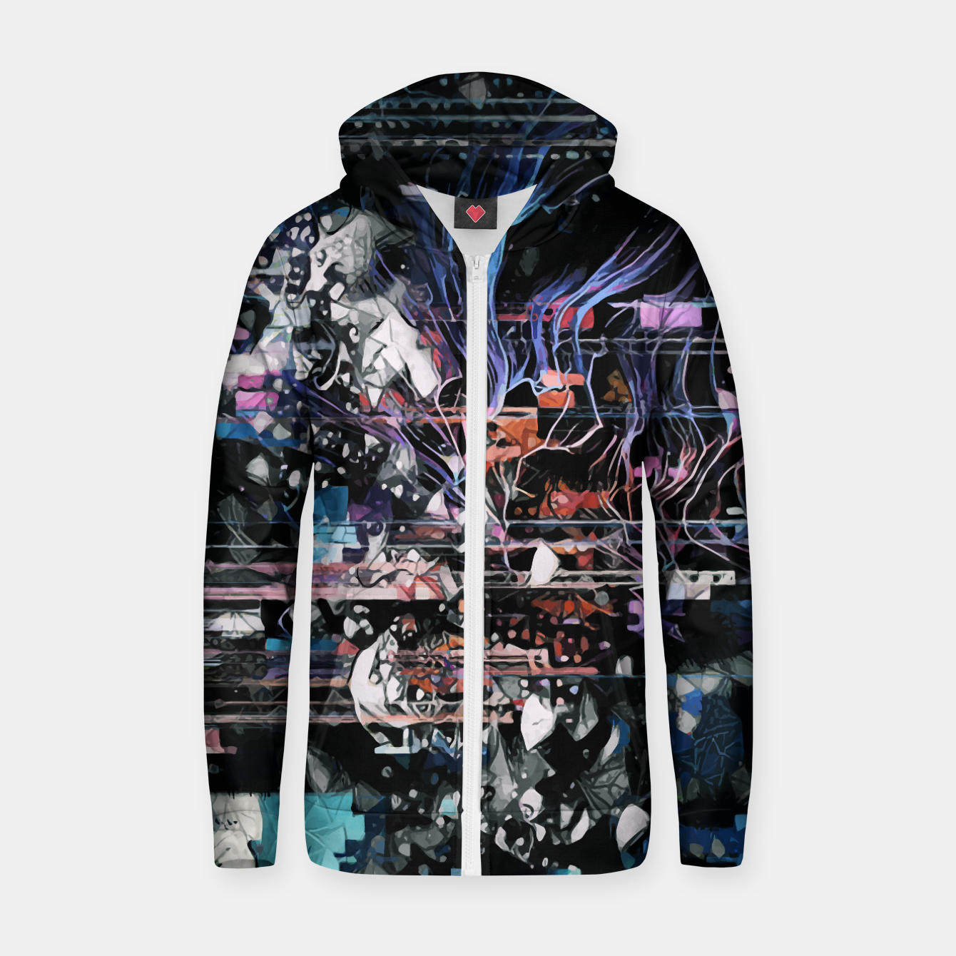 Image of Astronaut Apart Cotton zip up hoodie - Live Heroes