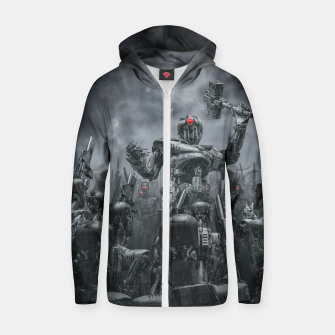 Thumbnail image of Once More Unto The Breach Cotton zip up hoodie, Live Heroes
