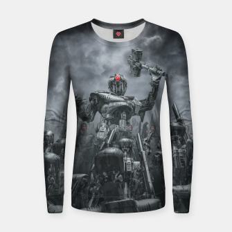 Thumbnail image of Once More Unto The Breach Woman cotton sweater, Live Heroes