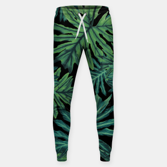 Miniatur Philo Hope - Tropical Jungle Night Leaves Pattern #1 #tropical #decor #art  Baumwoll hosen, Live Heroes