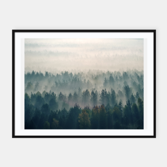 Foggy morning Plakaty w ramie  thumbnail image