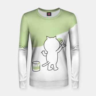 Thumbnail image of Malende Katze Kater Painting Cat Kitty Frauen baumwoll sweatshirt, Live Heroes