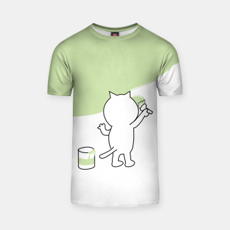 Thumbnail image of Malende Katze Kater Painting Cat Kitty T-Shirt, Live Heroes
